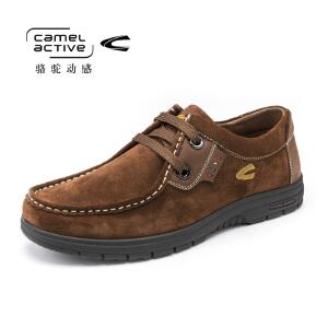 Camel Active/骆驼动感 秋冬季休闲磨砂鞋牛皮软皮舒适耐磨男鞋