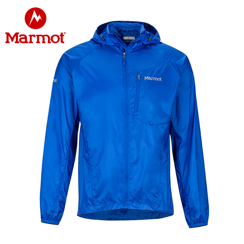 Marmot/土拨鼠春夏款男士防泼水透气带帽皮肤衣 VIP专享96折