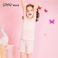 【年货节狂欢到手价:205元】安莉芳旗下LUCIE女童发育期莫代尔吊带背心家居睡衣套装NL0274