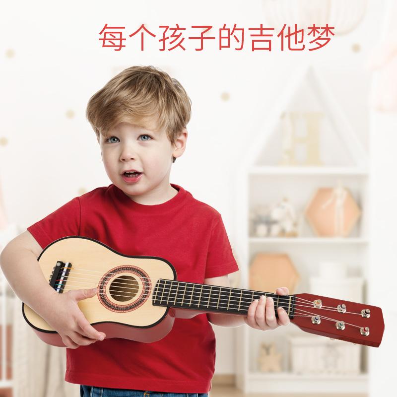 儿童木质玩具吉他尤克里里小乐器宝宝初学者小男孩女孩可弹奏仿真