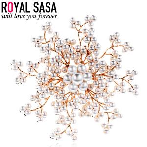皇家莎莎RoyalSaSa胸针女韩版典雅花朵胸针领针胸花别针时尚配饰品HXZ601001