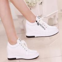 舒适好看!时尚新品内增高女鞋透气单鞋新款防滑耐磨小白鞋青春靓丽