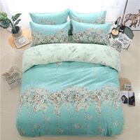 全棉加厚活性磨毛四件套纯棉套件床单被套宾馆床品1.5*2.0/2.0*2.3/2.2*2.4