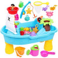 儿童玩沙台宝宝室内趣味玩水戏水桌沙盘台水池沙池玩具套装