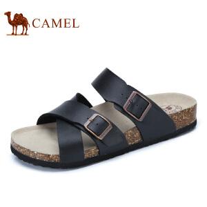 camel骆驼男鞋  夏季新品 时尚休闲一字拖鞋日常休闲男拖鞋