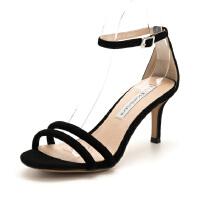 D:Fuse/迪芙斯 羊反绒细带性感高跟女凉鞋DF82115352