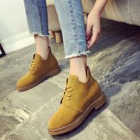 新款韩版复古马丁靴女英伦风平底内增高靴子百搭单鞋短靴秋冬棉靴