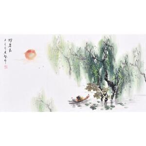 职业画家 黄老师《消暑图》SS4529