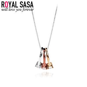 皇家莎莎戒指项链女士锁骨链韩国版学生简约百搭吊坠配饰生日礼物