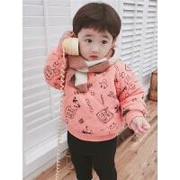 男童冬宝宝小童儿童卫衣棉袄打底衫