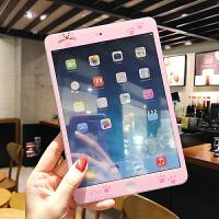 新款2018iPad贴膜air2迷你1前膜mini2全屏钢化膜5/6彩膜卡通粉色