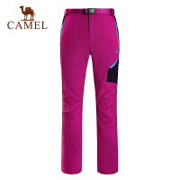 camel骆驼户外速干裤 春夏女款透气排汗耐磨快干长裤