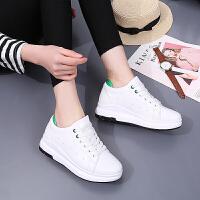 货到付款 春夏季新款女士运动休闲鞋内增高小白鞋女鞋子松糕鞋学生跑步鞋韩版