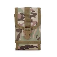 军迷战术男腰包尼龙穿皮带手机腰包多功能单层6寸大屏手机包男挂 迷彩色 CP