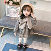 女童连衣裙秋冬洋气童装儿童两件套裙子宝宝公主裙