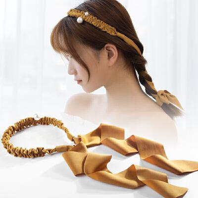 发箍发带带飘带的发卡头饰品甜美森女系系带简约