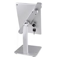 华为苹果平板电脑防盗支架ipad air桌面防盗展会点餐排号带锁支架 银色(7.9-10.5寸通用)