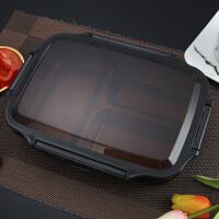 饭盒 304不锈钢分格饭盒双层加热保温可注水学生餐盘便当盒大容量儿童分格餐盘