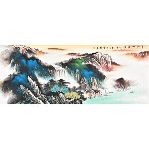 中国三峡画院一级画师 石雪伟青山幽居图gs01351