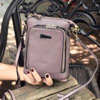 迷你斜挎手机包6.5寸屏牛皮拉链零钱包皮女式手包单肩小包