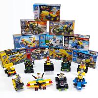 儿童小颗粒积木拼装玩具男孩子小盒装拼插汽车组装飞机