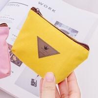 便携迷你零钱包硬币包韩版三角标志糖果色零钱包 卡通可爱创意小钱包