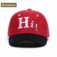 巴拉巴拉男童休闲帽子秋装2017新款中大童儿童帽子保暖鸭舌棒球帽