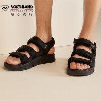 【顺丰包邮 乐享户外】诺诗兰沙滩鞋新款男士夏季户外休闲海边防滑透气软底凉鞋