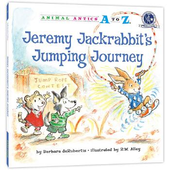 幼儿园里的26个开心果:赢得跳绳比赛 Animal Antics A to Z : Jeremy Jackrabbit's Jumping Journey 英语启蒙绘本,含地道美语音频。满足孩子认字母、学单词、练表达、培养好性格好品质等多重需要,适合幼儿园至小学低中年级孩子阅读。先后获得美国《学习杂志》教师选择儿童读物奖和家庭读物等奖。