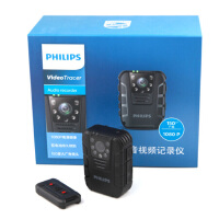 【送64G高速卡包邮】飞利浦(PHILIPS)VTR8100 执法取证 便携音视频记录仪1080P高清红外夜视摄像机