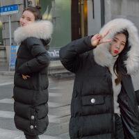 孕妇冬季外套2018新款韩版大码孕妇棉衣加厚羽绒怀孕期棉袄女 黑色 M