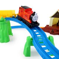 勾勾手儿童玩具小火车头套装电动火车轨道车轨道赛车男孩汽车玩具