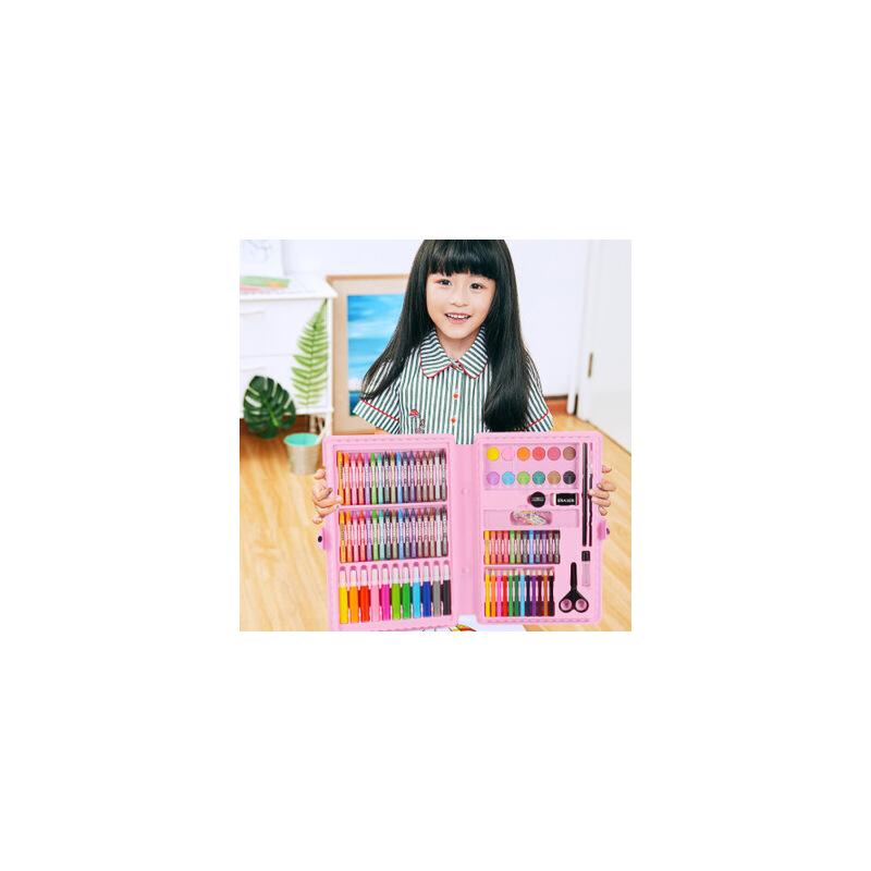 【单件包邮】109件儿童绘画套装礼盒儿童文具套装批发绘画工具美术学习用品水彩笔礼盒幼儿园六一礼品