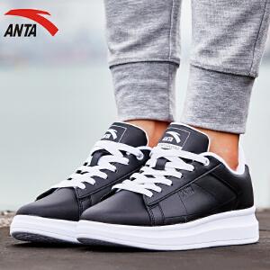 安踏运动板鞋女鞋秋季时尚潮流百搭增高低帮女板鞋小白鞋12648040