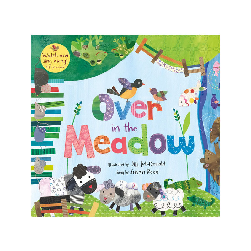 Over in the Meadow(A Barefoot Singalong)穿过草场(书+CD)ISBN9781846867477