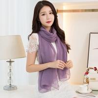 杭州丝绸真丝丝巾女围巾长款披肩春秋冬季秋季
