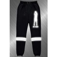 篮球周边小脚卫裤男青少年休闲裤反夜光运动裤