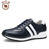 骆驼牌休闲男鞋 新款 舒适耐磨系带男士运动鞋日常休闲低帮