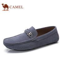 camel骆驼男鞋 春季新品 豆豆鞋男驾车鞋休闲套脚鞋皮鞋子