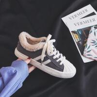 №【2019新款】冬天穿的加绒帆布鞋女秋新款百搭韩版原宿板鞋学生二棉鞋