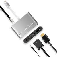 苹果iPad mini4转VGA转换器iPad mini3/2/1投影仪转接头hdmi电 0.25M