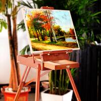 折叠工具箱水彩美术写生油画箱便携实木制多功能油画架