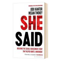 She Said 她说 关于ME TOO运动不为人知的故事 英文原版 揭露性骚扰 韦恩斯坦事件 Jodi Kantor