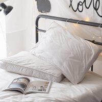 羽绒枕头枕芯全棉单人枕学生枕头床上用品蚕丝白鹅绒二合一枕 蚕丝羽绒二合一枕(单个)
