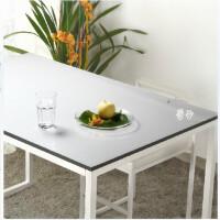 桌布透明 防水印台布餐桌垫PVC透明防水免清洗水晶板/软玻璃/桌布/台布 光面磨砂1.5毫米厚