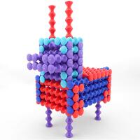 光华竹节棍积木玩具211PCS豪华套装软体柔性 PLAYSTIX拼装拼搭