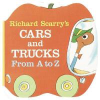 【现货】Richard Scarry's Cars and Trucks from A to Z 英文原版 理查德斯凯