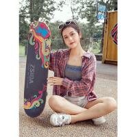 初学者入门专业成人男孩女生青少年公路刷街双翘滑板车