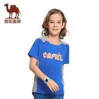 小骆驼童装年春夏季新款男童短袖圆领T恤中大童儿童休闲上衣