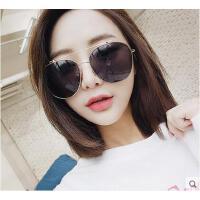 时尚复古女太阳镜 户外新款韩版个性大框圆脸方脸眼镜明星同款太阳镜墨镜女